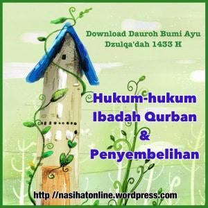 Hukum-hukum Ibadah Qurban dan Penyembelihan