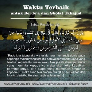 Waktu Terbaik untuk Berdoa dan Sholat Tahajjud