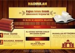 Info Kajian Rutin di Blok M, Jakarta Selatan