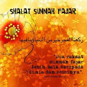 Sholat Sunnah Fajar