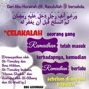 Celaka Orang yang Tidak Diampuni di Bulan Ramadhan
