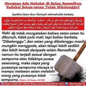 Mengapa Masih Ada Maksiat di Bulan Ramadhan Padahal Setan-setan Telah Dibelenggu 1