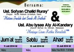 Dauroh Kendari, 13-15 Ramadhan 1435 H