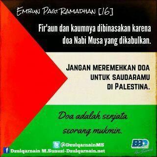 Jangan Remehkan Doa untuk Palestina dan Gaza