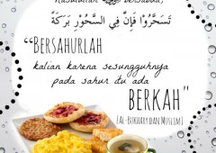 Keberkahan Makan Sahur