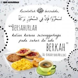 Makan Sahur itu Berkah