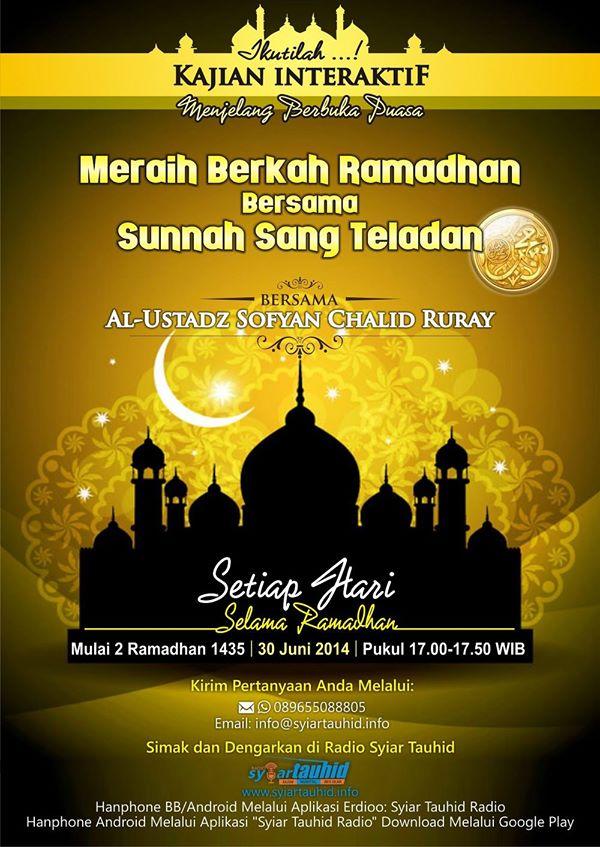 Siaran Ramadhan Jelang Buka
