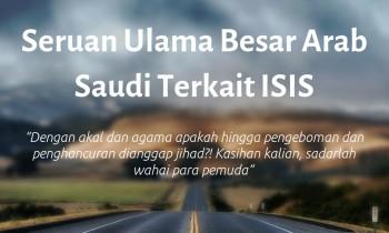 Seruan Ulama Besar Arab Saudi Terkait ISIS