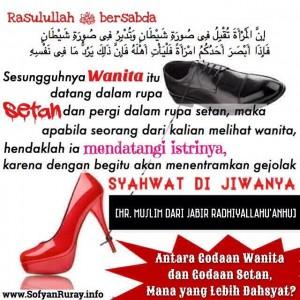 Antara Godaan Wanita dan Godaan Setan