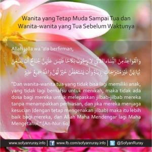 Wanita yang Tetap Muda Sampai Tua karena Menjaga Hijab dan Wanita yang Tua Sebelum Waktunya karena Tidak Berhijab 2