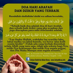 Doa Hari Arafah dan Dzikir yang Terbaik