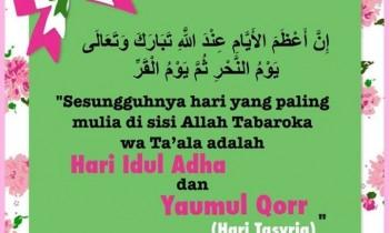 Hari-hari Terbaik untuk Mengagungkan Syiar-syiar Allah Ta'ala