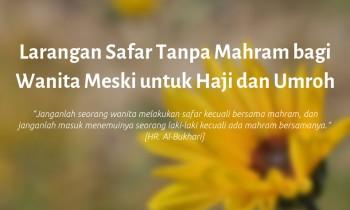 Larangan Safar Tanpa Mahram bagi Wanita Meski untuk Haji dan Umroh