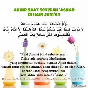 Akhir Jum'at Waktu Berdoa yang Maqbul