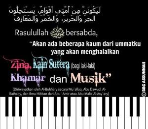 Haramnya Musik Zina, Sutera (bagi laki-laki haram), Khamar dan Musik