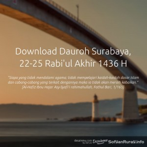 Download Dauroh Surabaya Rabi'ul Akhir 1436 H