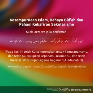 Kesempurnaan Islam, Bahaya Bid'ah dan Paham Sesat Sekularisme