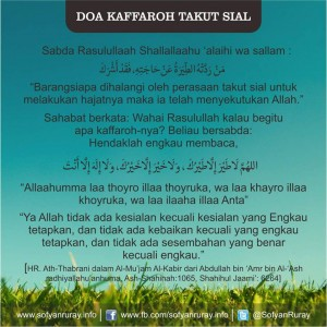 Doa Kaffaroh Takut Sial