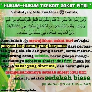 Hukum-hukum Terkait Zakat Fitri