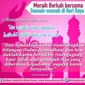 Meraih Berkah bersama Sunnah-sunnah di Hari Raya 2