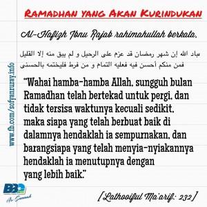Ramadhan yang Akan Kurindukan