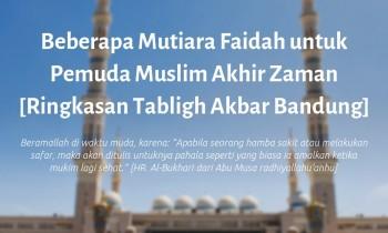 Beberapa Mutiara Faidah untuk Pemuda Muslim Akhir Zaman