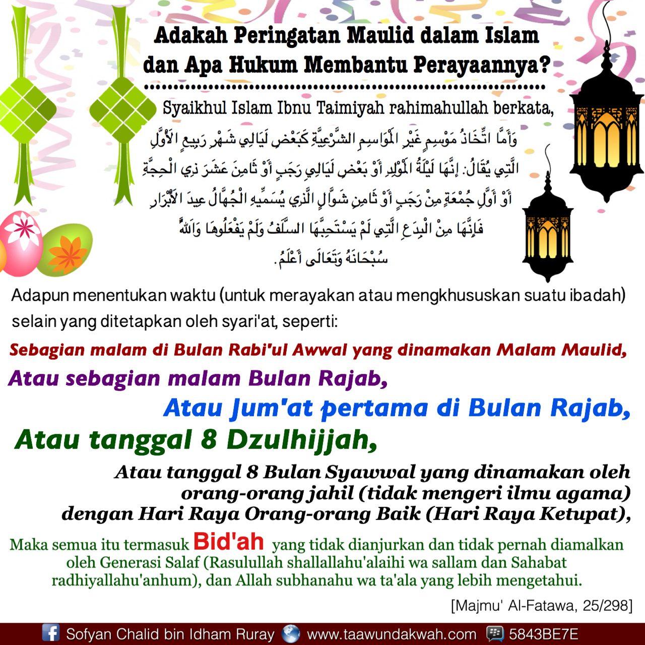 Adakah Peringatan Maulid dalam Islam dan Apa Hukum Membantu Perayaannya?