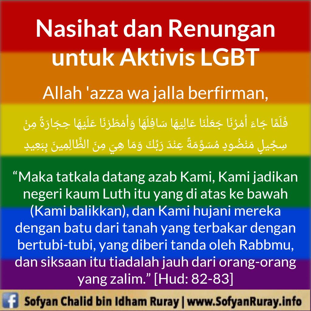 Nasihat dan Renungan untuk Aktivis LGBT
