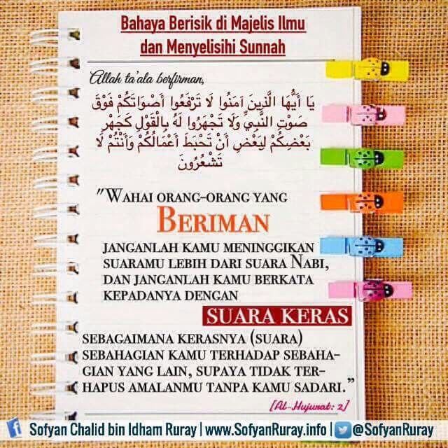 Bahaya Berisik di Majelis & Menyelisihi Sunnah