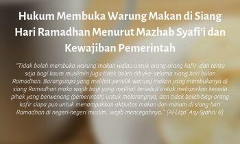 Hukum Membuka Warung Makan di Siang Hari Ramadhan Menurut Mazhab Syafi'i dan Kewajiban Pemerintah